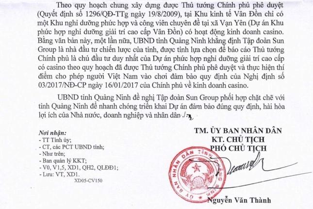 Sun Group là nhà đầu tư duy nhất được đầu tư kinh doanh CASINO tại Vân Đồn - ảnh 1
