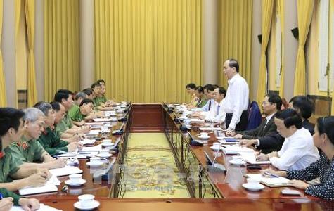 Chủ tịch nước: 'Không để xảy ra sai sót dù nhỏ nhất dịp Tuần lễ Cấp cao APEC' - ảnh 1