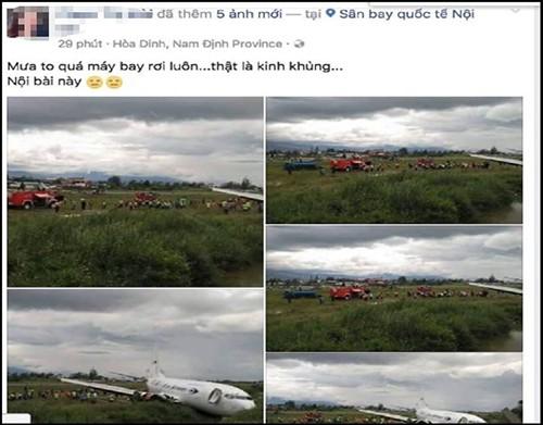 Công an vào cuộc vụ tung tin máy bay rơi ở Nội Bài - ảnh 1
