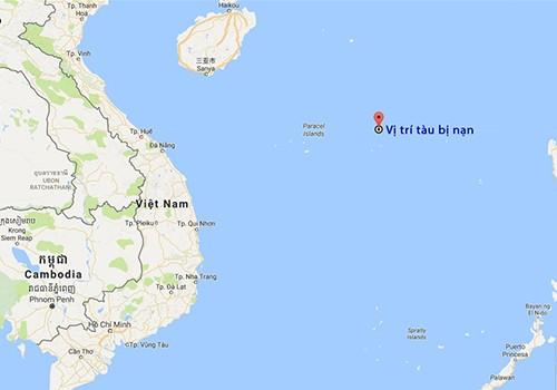 Chìm tàu tại vùng biển Hoàng Sa: 5 ngư dân mất tích - ảnh 1