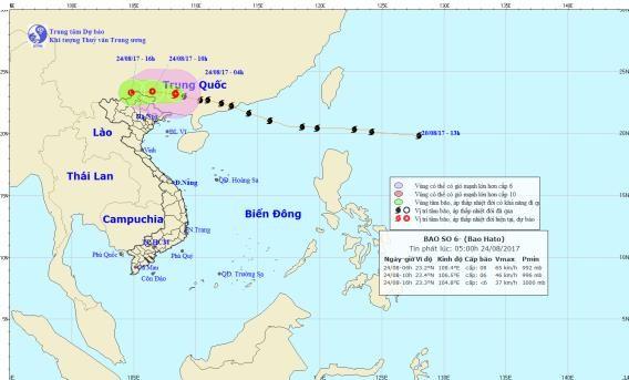 Nguy cơ lũ quét khu vực Quảng Ninh-Lạng Sơn do bão Hato - ảnh 1