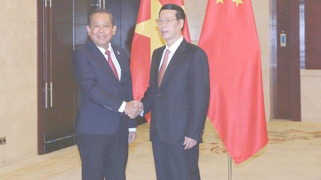 Phó Thủ tướng Trương Hòa Bình gặp gỡ Phó Thủ tướng Trung Quốc - ảnh 1