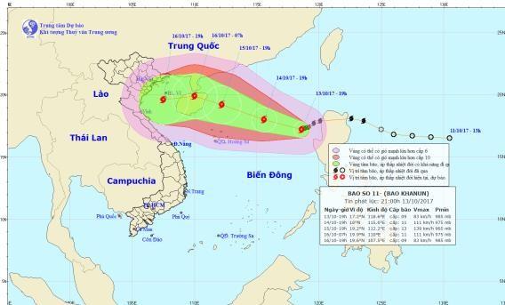 Trong 2 ngày tới, bão số 11 sẽ đổ bộ vào nước ta - ảnh 1