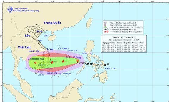 Áp thấp nhiệt đới mạnh lên thành bão,giật cấp 14 - ảnh 1