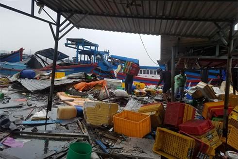 Sập nhà, tốc mái,chìm thuyền, Khánh Hòa thiệt hại tiền tỷ sau bão - ảnh 4