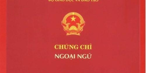 Bộ Giáo dục chính thức dừng tổ chức cấp chứng chỉ ngoại ngữ ngoài nhà trường - ảnh 1