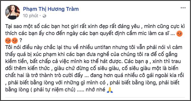 Bị cho là 'đá xéo' Chi Pu, Hương Tràm lên tiếng - ảnh 2