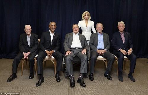 5 cựu tổng thống Mỹ cùng xuất hiện tại sự kiện gây quỹ - ảnh 1