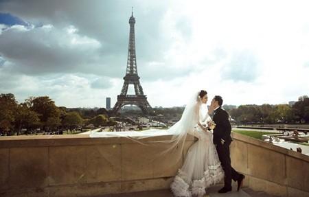Ngọc Duyên khoe ảnh cưới lãng mạn ở Paris - ảnh 3