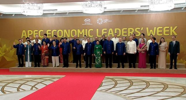 Các nhà lãnh đạo APEC cùng mặc trang phục tơ tằm của Việt Nam - ảnh 1