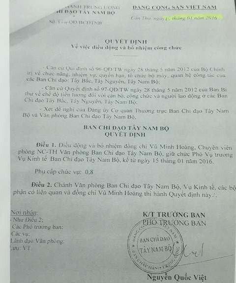 """Một cán bộ 9X ở Ban chỉ đạo Tây Nam Bộ được bổ nhiệm """"thần tốc"""" - ảnh 1"""
