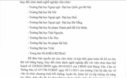 Bi hài giáo viên ở Hưng Yên nháo nhác 'mua' chứng chỉ - ảnh 1