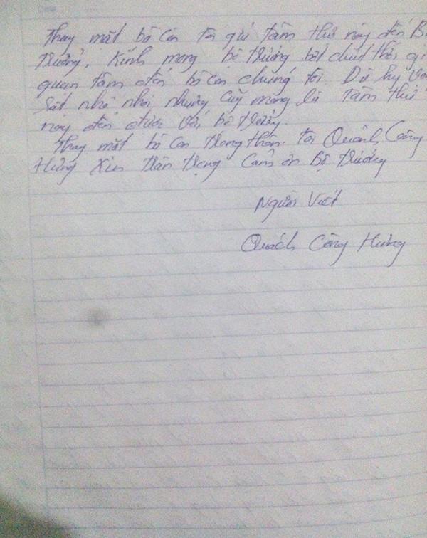 'Tâm thư' gửi Bộ trưởng Thăng của người dân xóm Nhạp - ảnh 2