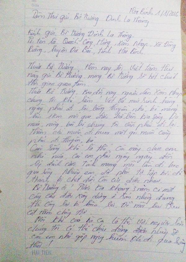 'Tâm thư' gửi Bộ trưởng Thăng của người dân xóm Nhạp - ảnh 1