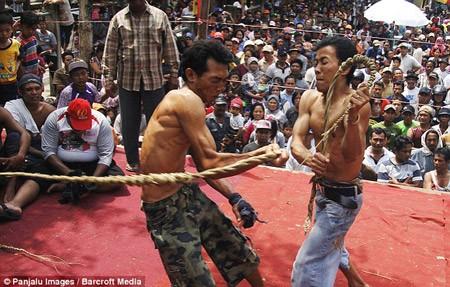 Rợn người nghi lễ cầu mưa ở Indonesia - ảnh 2