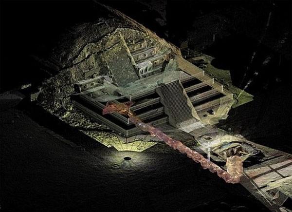 Tìm thấy sông thủy ngân dưới kim tự tháp người Maya - ảnh 1