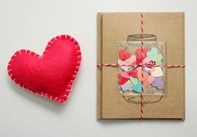 Hướng dẫn cách làm thiệp Valentine 'trái tim trong lọ thủy tinh' - ảnh 1