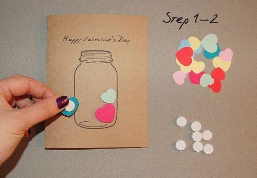 Hướng dẫn cách làm thiệp Valentine 'trái tim trong lọ thủy tinh' - ảnh 2