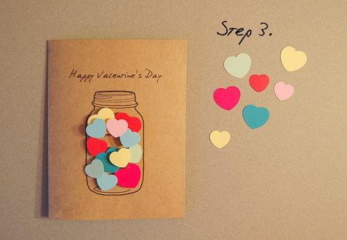 Hướng dẫn cách làm thiệp Valentine 'trái tim trong lọ thủy tinh' - ảnh 3