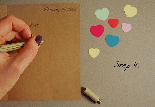 Hướng dẫn cách làm thiệp Valentine 'trái tim trong lọ thủy tinh' - ảnh 4