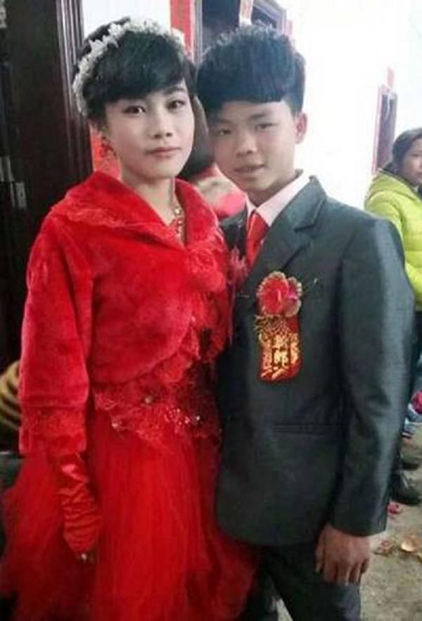 Cặp đôi lệch chú rể 13 tuổi lấy vợ 16 tuổi gây sốt cộng đồng mạng - ảnh 1