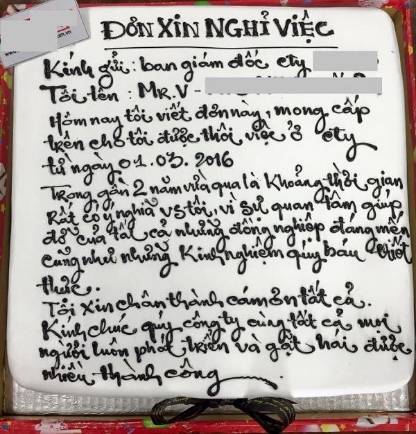 Thích thú với lá đơn xin thôi việc 'ngọt ngào' nhất Việt Nam - ảnh 1