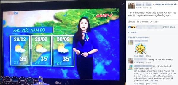 Dân mạng ngạc nhiên với bản tin dự báo thời tiết ngày...30/2 - ảnh 1