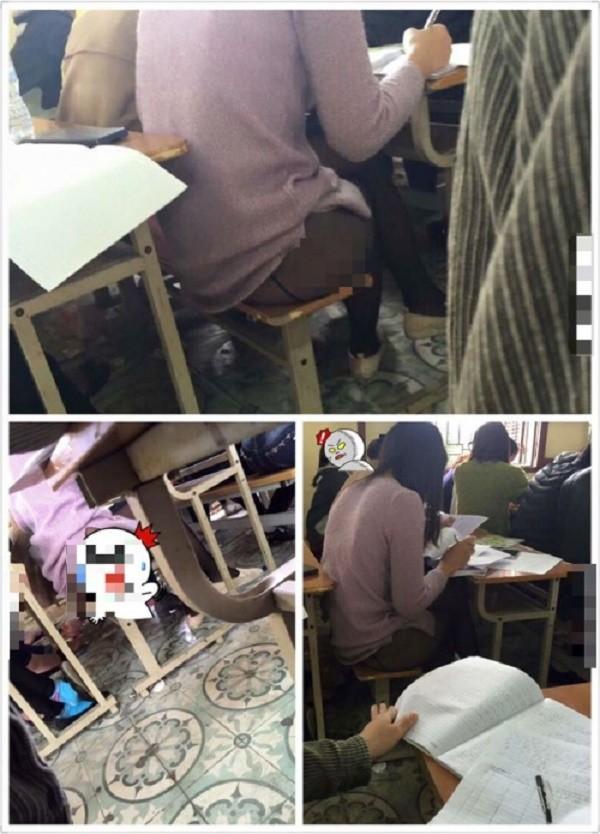 Thiếu nữ 'mặc như không' trong lớp học gây bức xúc - ảnh 1