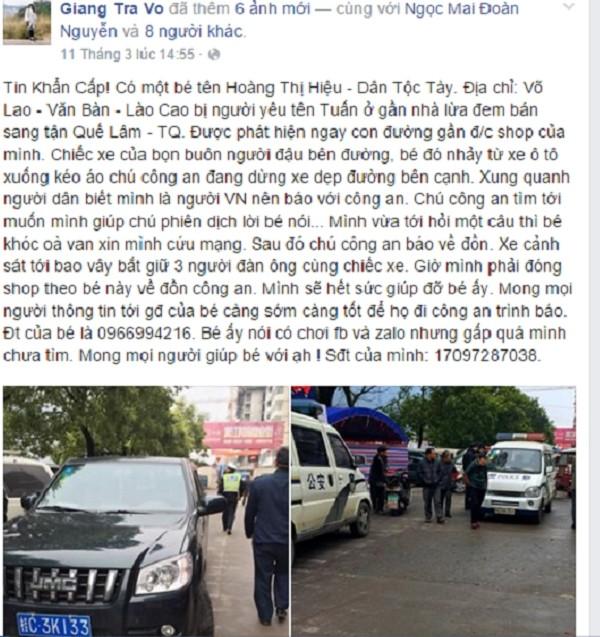 Thiếu nữ Việt bị người yêu bán sang Trung Quốc may mắn thoát nạn - ảnh 1