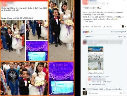 Đám cưới của 'chú rể tí hon' và 'cô dâu khổng lồ' gây bão mạng - ảnh 1