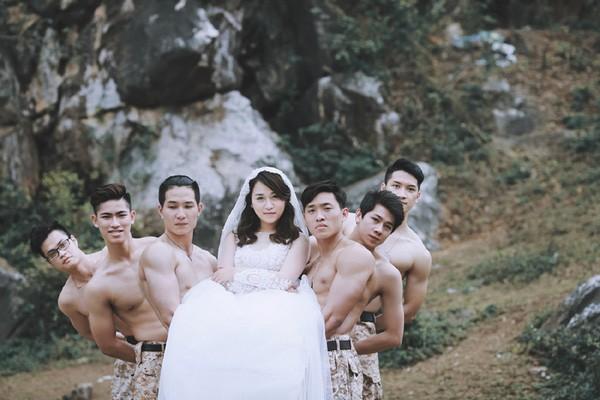 'Phát sốt' với bộ ảnh cưới 'Hậu duệ mặt trời' phiên bản Việt - ảnh 1
