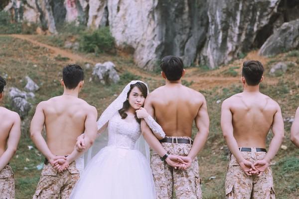 'Phát sốt' với bộ ảnh cưới 'Hậu duệ mặt trời' phiên bản Việt - ảnh 2