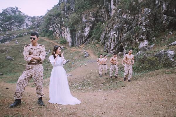 'Phát sốt' với bộ ảnh cưới 'Hậu duệ mặt trời' phiên bản Việt - ảnh 4
