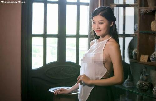 Bộ ảnh 'Lang nữ áo yếm' đang nhân danh nghệ thuật để khoe thân? - ảnh 1