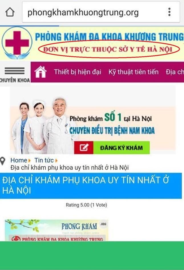 Phòng khám mạo danh Sở Y tế, quảng cáo lừa người bệnh? - ảnh 1