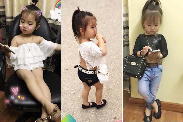 Bé gái 3 tuổi ở Tuyên Quang ăn mặc 'già trước tuổi' gây sốt mạng - ảnh 1