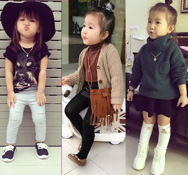 Bé gái 3 tuổi ở Tuyên Quang ăn mặc 'già trước tuổi' gây sốt mạng - ảnh 2