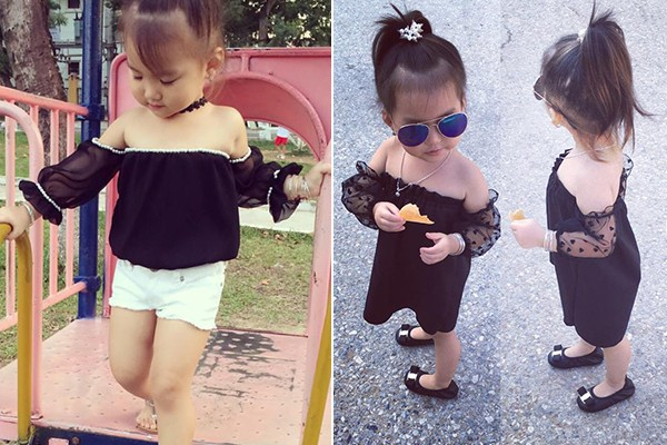 Bé gái 3 tuổi ở Tuyên Quang ăn mặc 'già trước tuổi' gây sốt mạng - ảnh 5