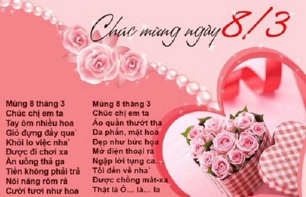 Chùm thơ 8-3 hay nhất tặng chị em phụ nữ bạn bè đồng nghiệp - ảnh 1