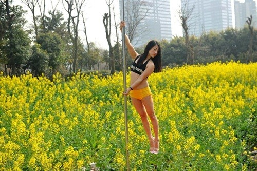 Dân mạng 'ném đá' gái trẻ diện bikini múa cột giữa vườn cải - ảnh 1