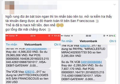 Cảnh báo tình trạng 'bỗng nhiên' mất tiền trong thẻ tín dụng - ảnh 1