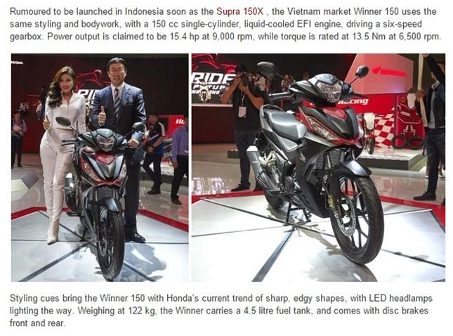 Giới truyền thông phát sốt với Honda Winner 150 - ảnh 2