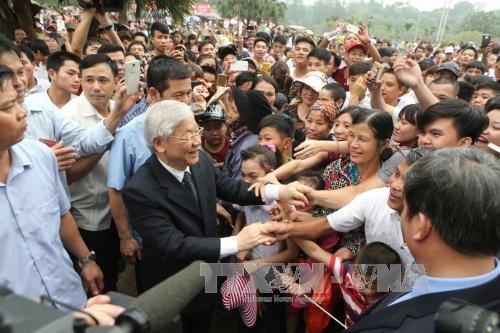 Tổng Bí thư Nguyễn Phú Trọng dâng hương tưởng niệm các Vua Hùng - ảnh 5