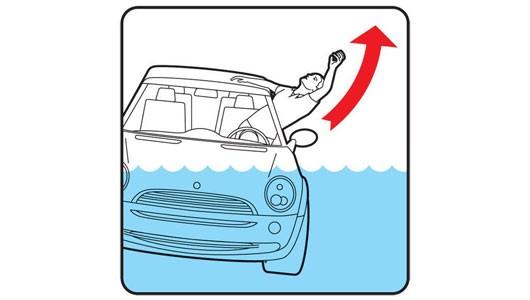 Làm thế nào để thoát chết khi ô tô lao xuống sông, hồ? - ảnh 2