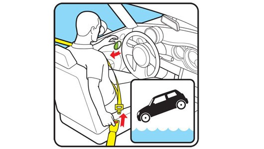 Làm thế nào để thoát chết khi ô tô lao xuống sông, hồ? - ảnh 4