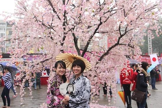 Náo nức lễ hội hoa Anh đào đầu tiên ở TP. HCM - ảnh 1