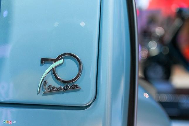 Vespa PX 125 bản đặc biệt khác lạ với màu xanh hiếm - ảnh 4