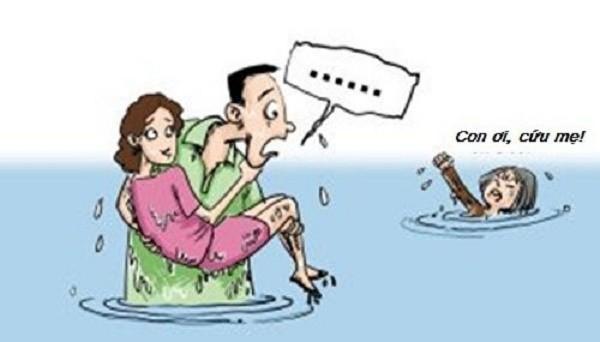 Mẹ và vợ cùng rơi xuống nước, bạn sẽ cứu ai? - ảnh 1