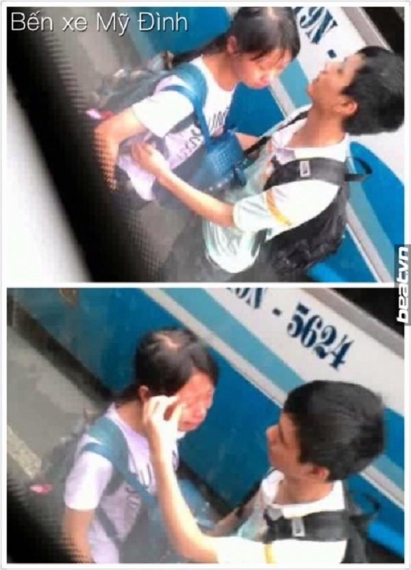 Thiếu nữ khóc nức nở ở bến xe Mỹ Đình xôn xao cộng đồng mạng - ảnh 1