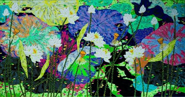 Thử nghiệm chất liệu sơn mài, họa sỹ  - ảnh 2